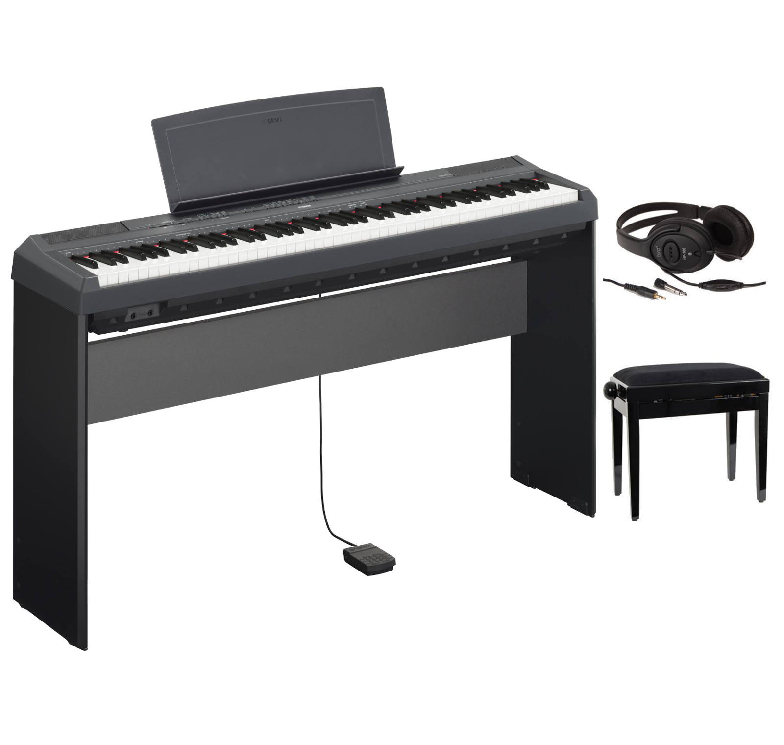 yamaha p115b piano num rique noir piano buy online free. Black Bedroom Furniture Sets. Home Design Ideas