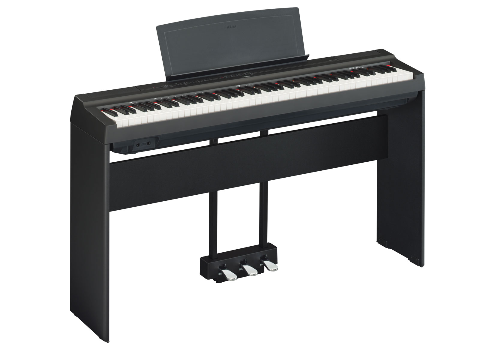 yamaha p45 digital piano with x stand bench pedal and. Black Bedroom Furniture Sets. Home Design Ideas