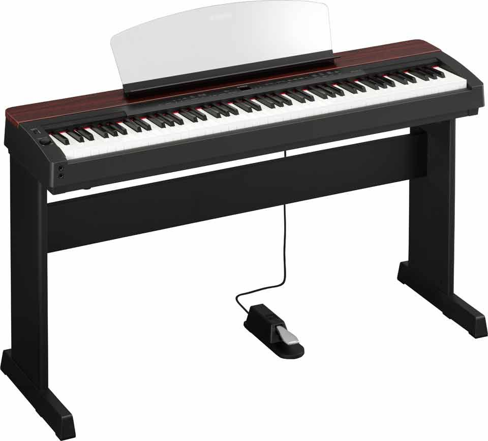 pack stage digital piano yamaha p155 black and mahogany stand 88 keys piano buy online. Black Bedroom Furniture Sets. Home Design Ideas