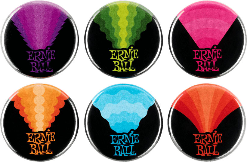 Ernie Ball Badges Colors Of Rock\'n\'roll
