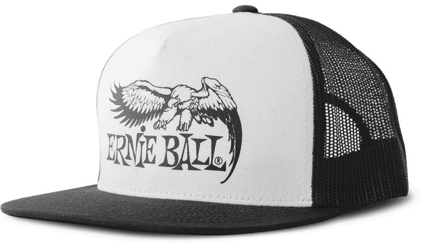 BLACK WITH WHITE FRONT AND BLACK EAGLE LOGO HAT