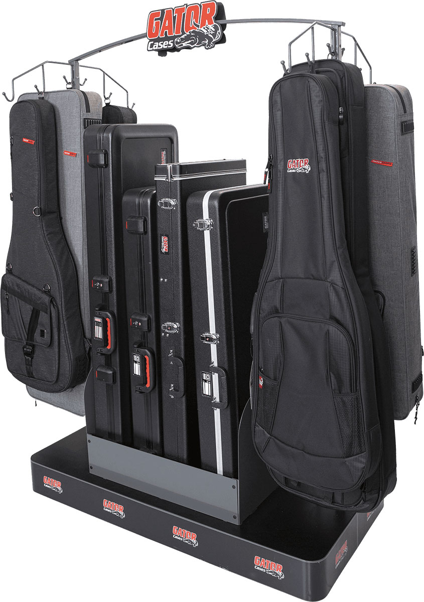 DISPLAY FOR 12 COVERS AND 4 GUITAR CASES