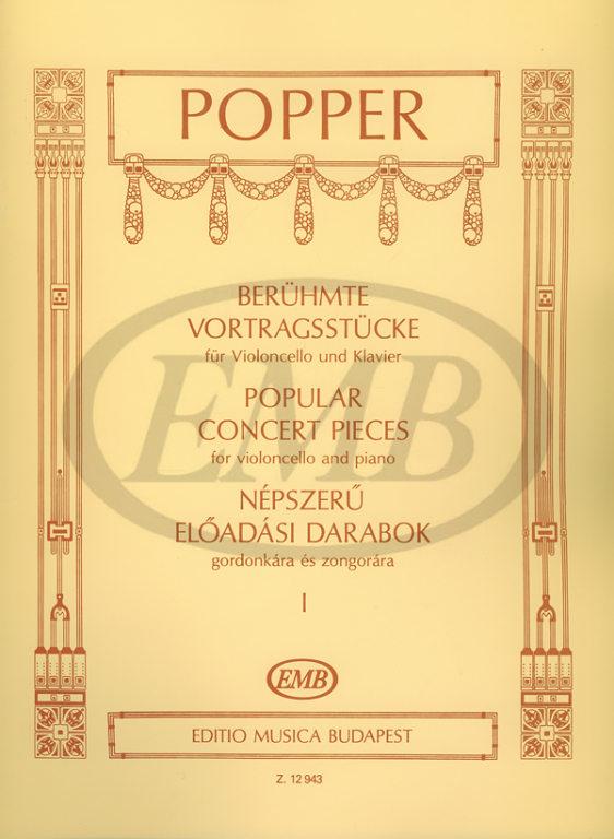 Popper D. - Popular Concert Pieces Vol.1 - Violoncelle Et Piano