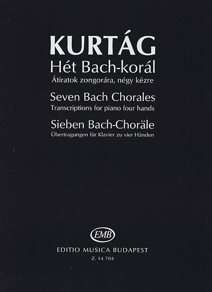 Kurtag G. - Seven Bach Chorales - Piano 4 Mains