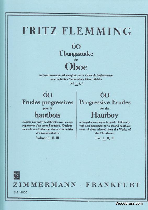 Flemming Fritz - 60 Etudes Progressives Pour Le Hautbois Vol.1