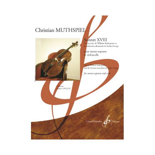 Muthspiel Christian - Sonnet Xviii - Chant Et Orgue Et/ou Autres Instruments